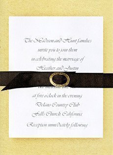 wedding invitations with belts