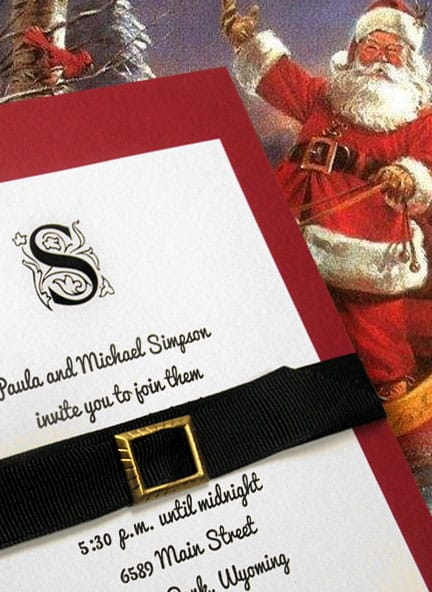 Santa Inspired Invitations for Weddings and Events