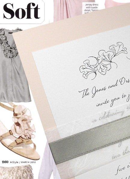 Blush Pink Wedding Invitations with Satin Wrap