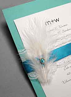 wedding invitations with feathers