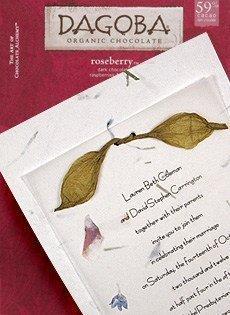 wedding invitations with lokta tie