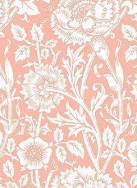 Vintage Pink Floral Print Wedding Paper