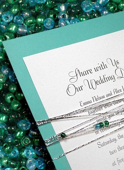 diy invitations with beads