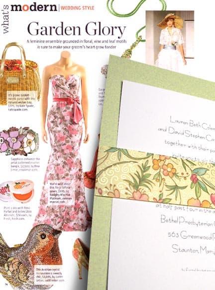 Beautiful DIY Layered Wedding Invitations with Italian Floral Wrap