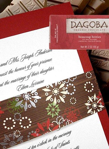 Christmas Invitation with Snowflake Wrap