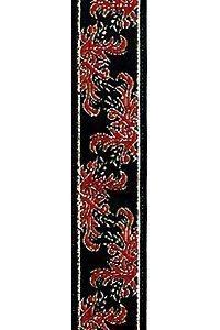 Red - Black Jacquard Ribbon to Wrap Invitations