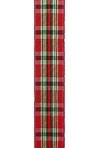 Red Tartan Plaid Ribbon to Wrap Inviatations