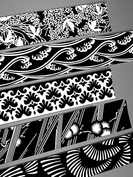 Black and White Graphic Wraps for DIY Wedding Invitations