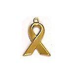 Awareness Ribbon Brass Charms