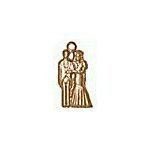 Bride and Groom Brass Charms