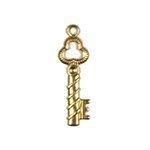 Key Brass Charms