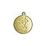 Love Coin Brass Charms