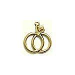 Wedding Rings Brass Charms
