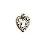 Silver Heart Charms