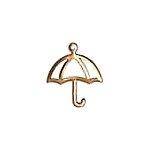 Umbrella Cutout Brass Charms