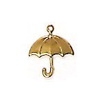 Solid Umbrella Brass Charms