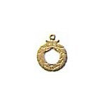 Holiday Wreath Brass Charms