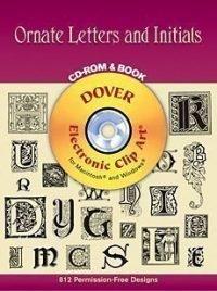 Invitation Clip Art Book & CD - Ornate Letters and Initials