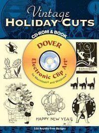 Invitation Clip Art Book & CD - Vintage Holiday Cuts