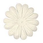 Large Embossed White Paper Petals