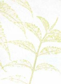 Handmade Leaf Imprint Wedding Paper