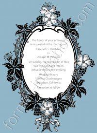 oval floral invite
