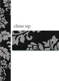 Silver Roses on Black Paper Wrap for Invitations