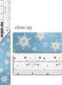 Winter Glitter Snowflake Paper Sashes for Invitations