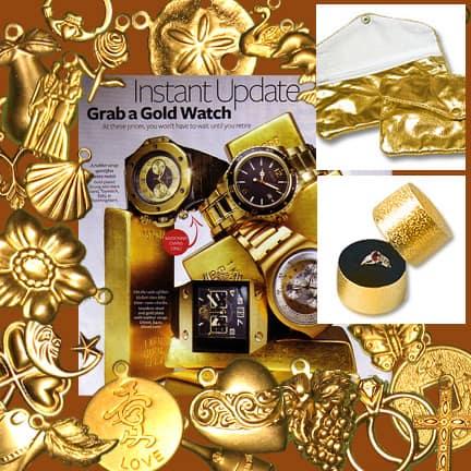 Brass Metal Charms for DIY Wedding Invitation Embellishments