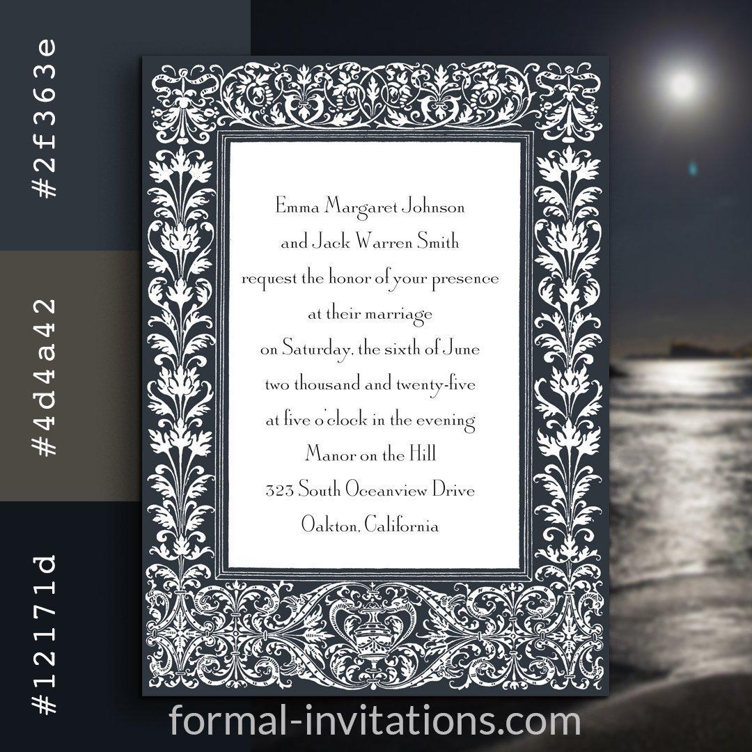 Moonlight Vintage Wedding Invitations