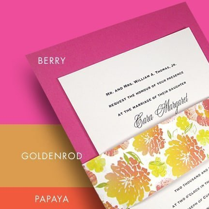 Summer Wedding Color Palette in Bright Pink, Yellow and Orange