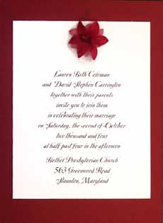 burgundy silk flower invite