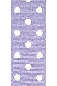 Lavender Polka Dot Grosgrain Ribbon to Wrap Inviatations