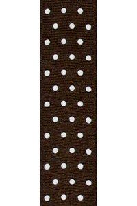 Brown Swiss Dot Grosgrain Ribbon to Wrap Inviatations