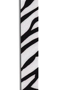 Zebra Grosgrain Ribbon to Wrap Inviatations